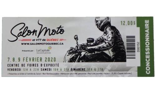 Billet Salon Moto de Québec 2020